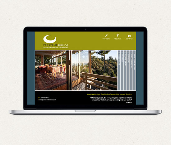 Crescent Builds home page